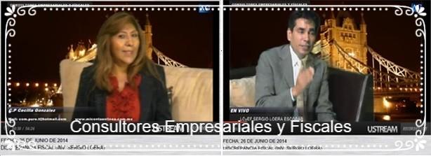 L.C. y E.F. Sergio Loera  con tema Discrepancia Fiscal, 26 de junio del 2014,  clic en imagen para ver video.