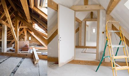 Dachgeschoss Sanierung und Ausbau