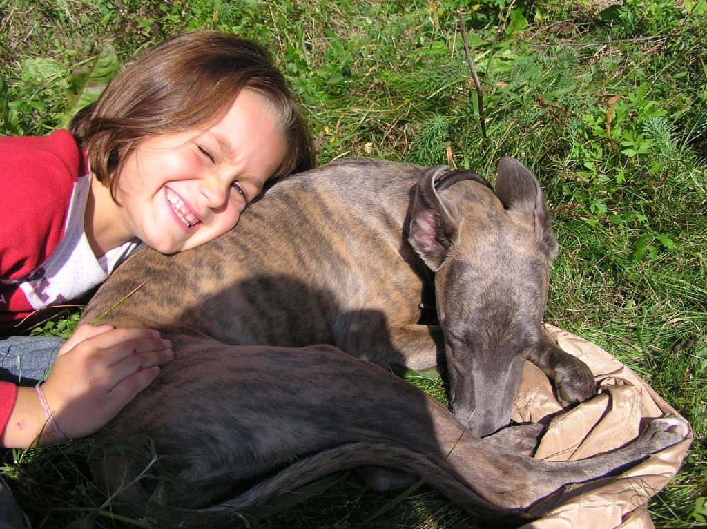 Nina mit Filou