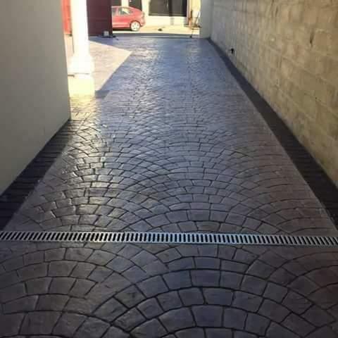 beton amprentat sibiu