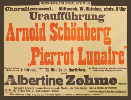 """Atonalismo y nuevas tendencias. Audición """"Pierrot Lunaire"""""""