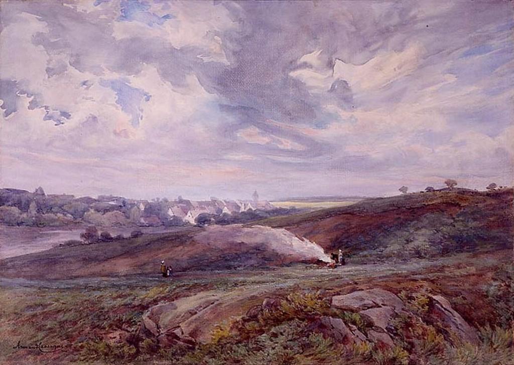Armand Cassagne inv 351. La Plaine et le village de Cernay-la- Ville