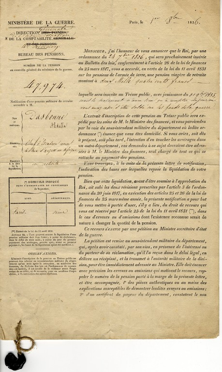 Inventaire 2002.7.5 a - Pension 1836