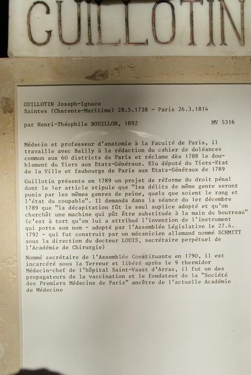Salle du Jeu de Paume : Docteur Guillotin