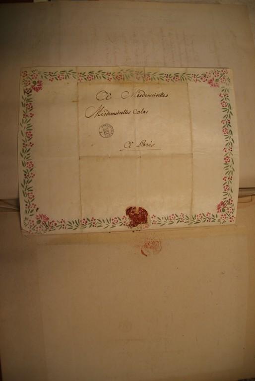 Enveloppe de la lettre de Voltaire