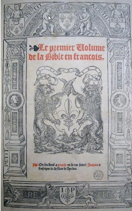 Première Bible en Français -   Imprimée à Louvain - Couverture