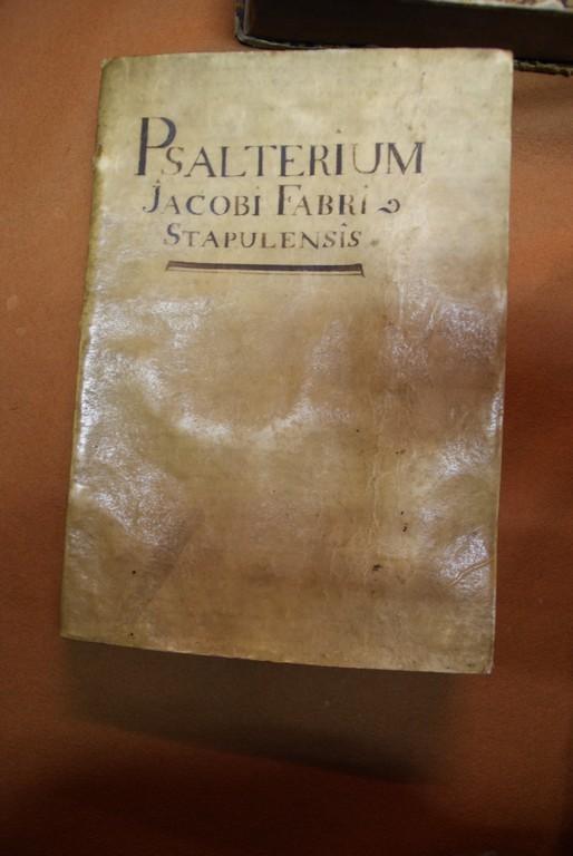 Psautier traduit en Français par Lefevre d'Etaples - Imprimé à Paris par Simon de  Colines 1525