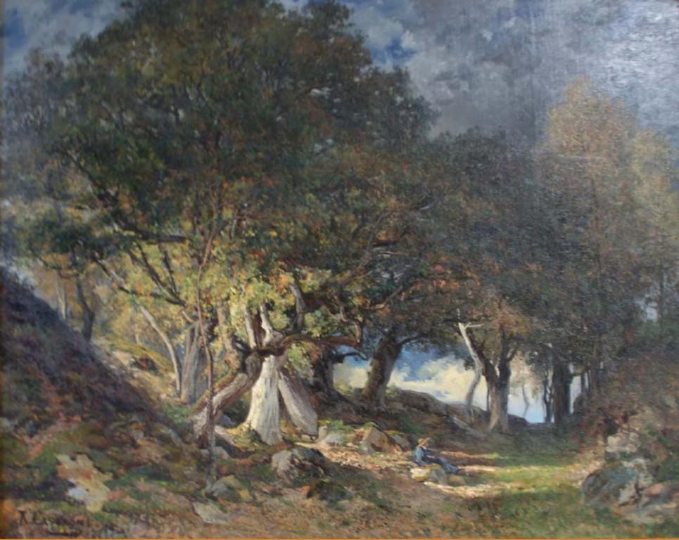 Armand Cassagne - La Chaise Marie. Forêt de Fontainebleau.huile -  inv 446 - Restauré