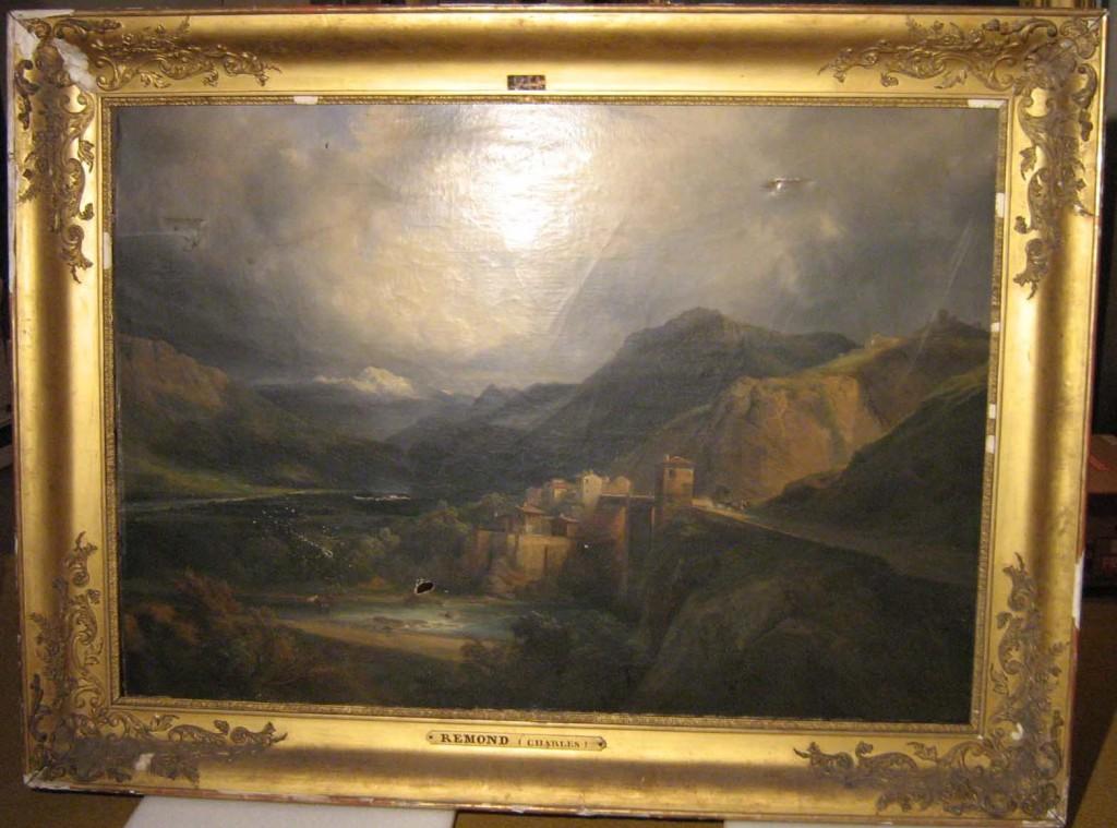 REMOND Jean-Charles, Vue des Alpes à Crevola, 1835, huile sur toile, inv D 124