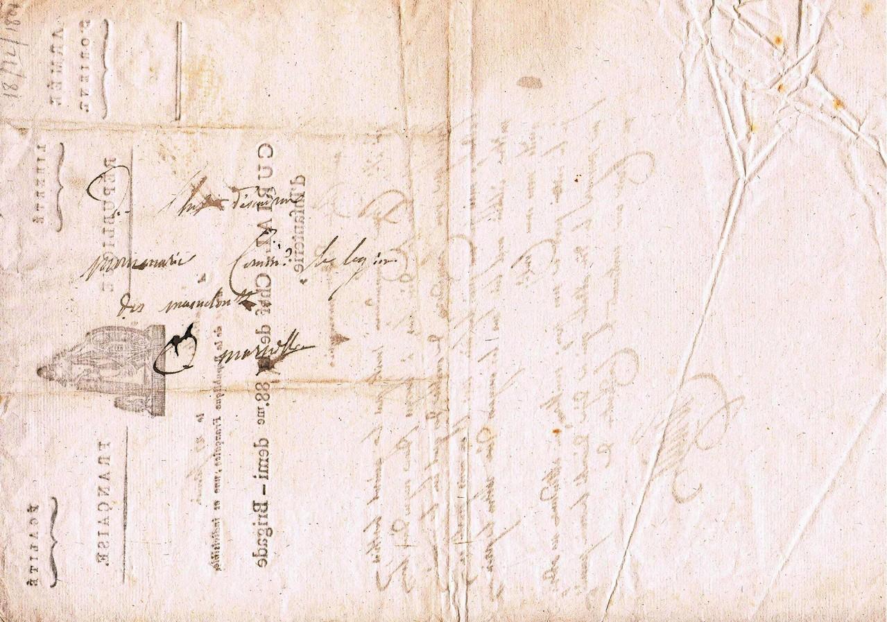 Lettre du Général CURIAL ; adresse (verso de la lettre)