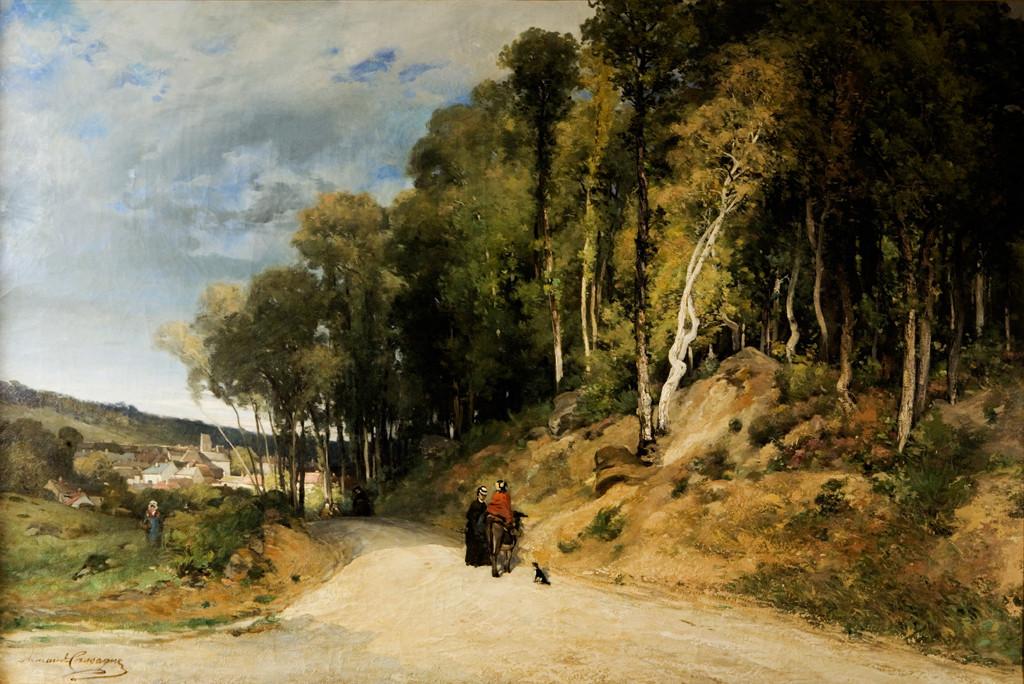 Armand Cassagne - inv 460 - Promenade en forêt. Avon
