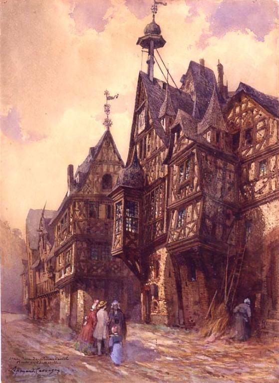 Armand Cassagne  Une Rue de Bern-Castel. Bords de la Moselle. inv  344.1