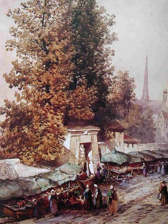 Armand Cassagne inv 330. Le Vieux marché de la rue de Sèvres