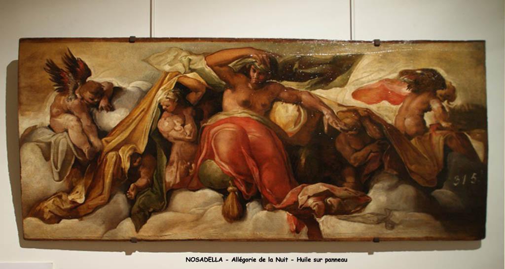 NOSADELLA  -  Allégorie de la nuit - Restauré aux Ateliers de Versailles