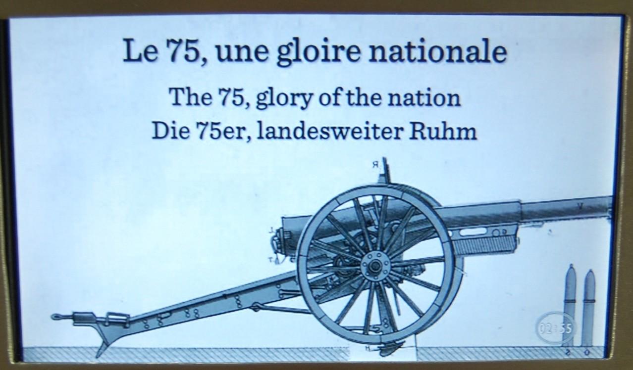 """Canon de 75 - En 1942 à  Bir Hakeim les Anglais l'appelaient """"Dear old seventy five"""""""