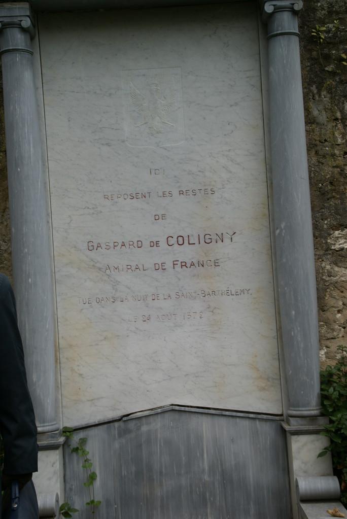 Stèle  de Gaspard de Coligny