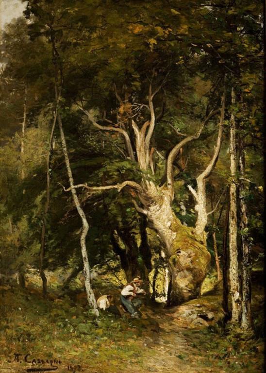 Armand Cassagne inv 462. Les Braconniers dans les grands bois.