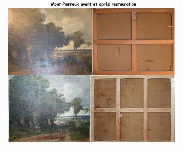 Armand Cassagne inv 444 Mont Pierreux - Travail de restauration