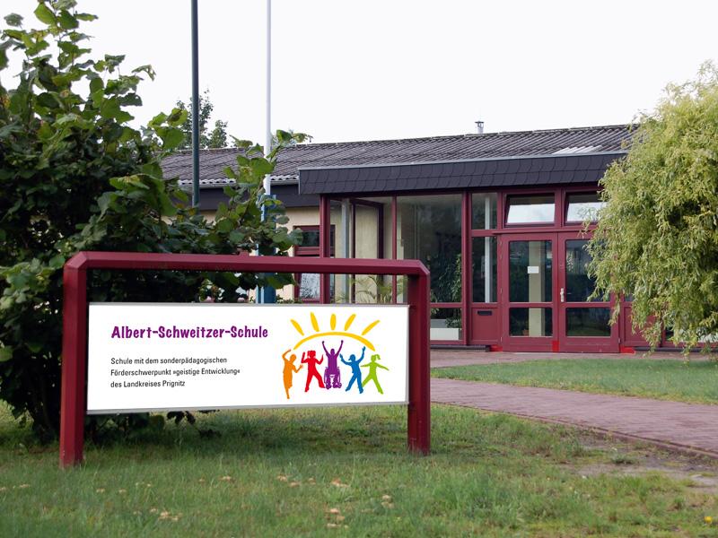 Eingang der Albert-Schweitzer-Schule in Wittenberge