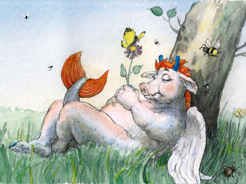 © Bernd Streiter, Illustration aus dem Kinderbuch »Was das Walula alles kann«