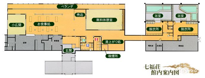 七福荘館内案内図【七福温泉 七福荘】