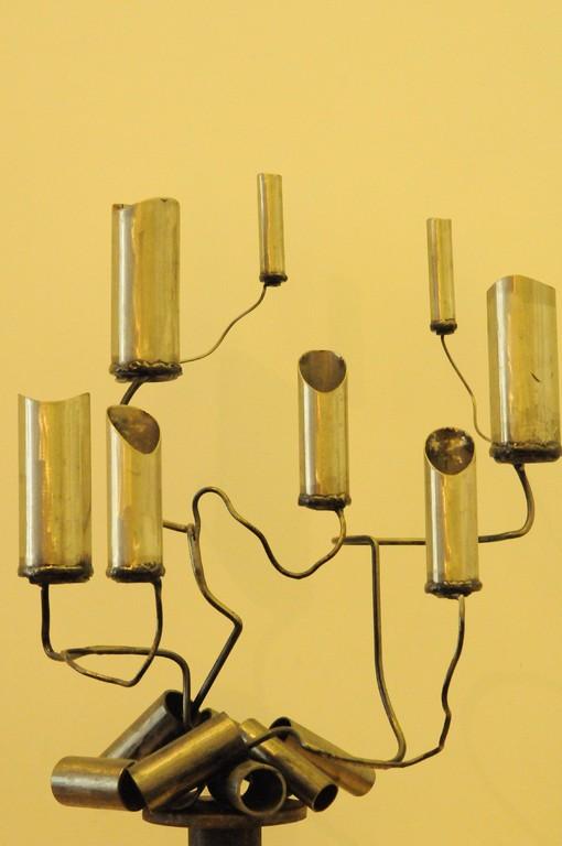 Podfleur     tubes inox, tiges acier      H 80x90x70 cm     2008