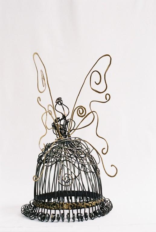 Clochette  Tiges matelées mises en forme.   60x40x30     2006