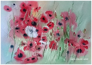 Coquelicots n° 1 26x35 Collectionprivée (2018)