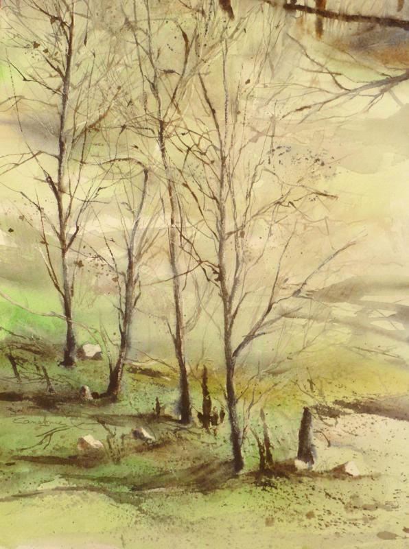 La pinède après l'incendie - n°19 - 26X36 collection privée(2011)