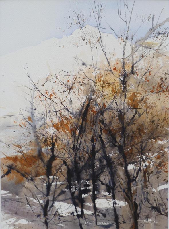 La pinède après l'incendie - n°12 - 26.5x36.5 collection privée  (2013)