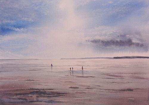 Sur la plage de Gruissan 27x34 * (2018)