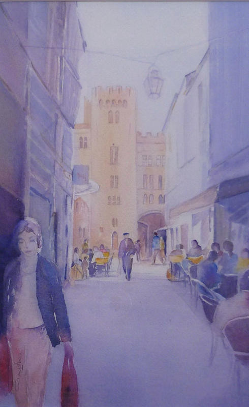 20-Narbonnen°17 Rue de l'ancien Courrier La passante 19,5x30 collection privée (2013)