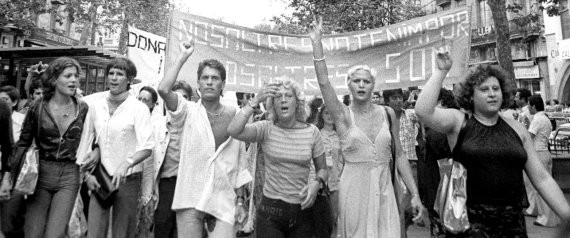 Primera manifestación del Orgullo gay en en estado español. Barcelona, 28 de junio de 1977