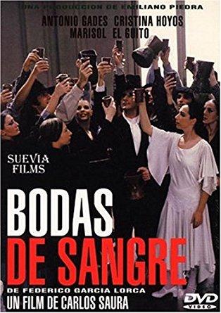 Cartel de la película Bodas de sangre, de Carlos Saura.