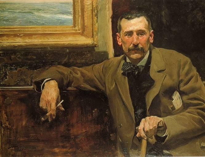 Retrato de Benito Pérez Galdós. Joaquín Sorolla (1894)