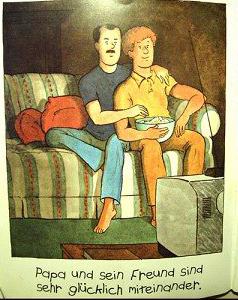 Libro infantil didáctico alemán que explica la homosexualidad