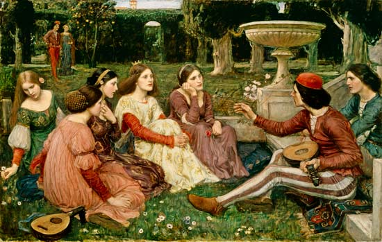 J. W. Waterhouse,  A Tale from the Decameron (1916)