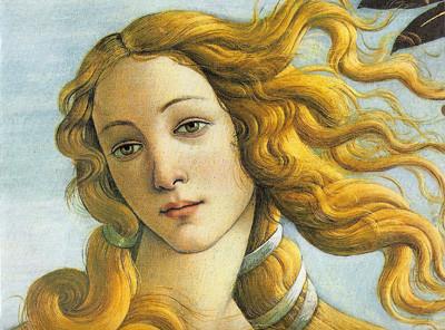 Detalle de El nacimiento de Venus, de Sandro Botticelli.