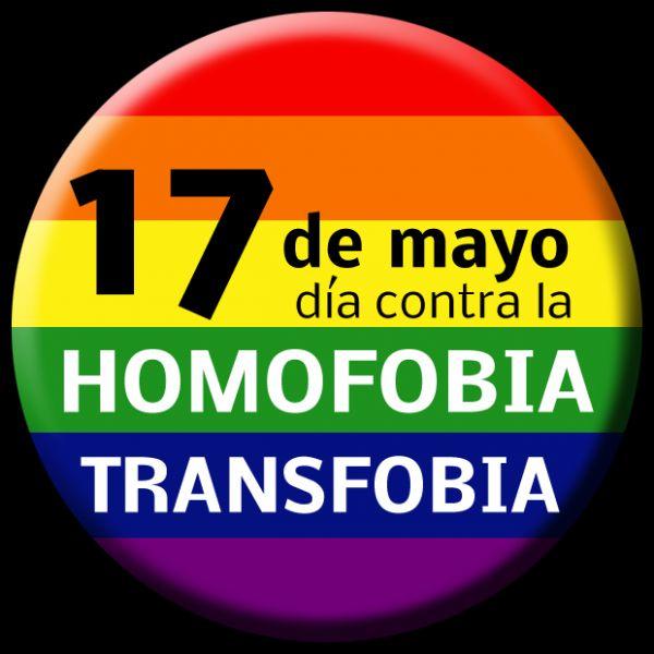 17 de mayo. Día Internacional contra la homofobia,  lesbofobia, bifobia y transfobia.