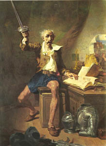 Don Quijote. Celestino Nanteuil (1813-1873)