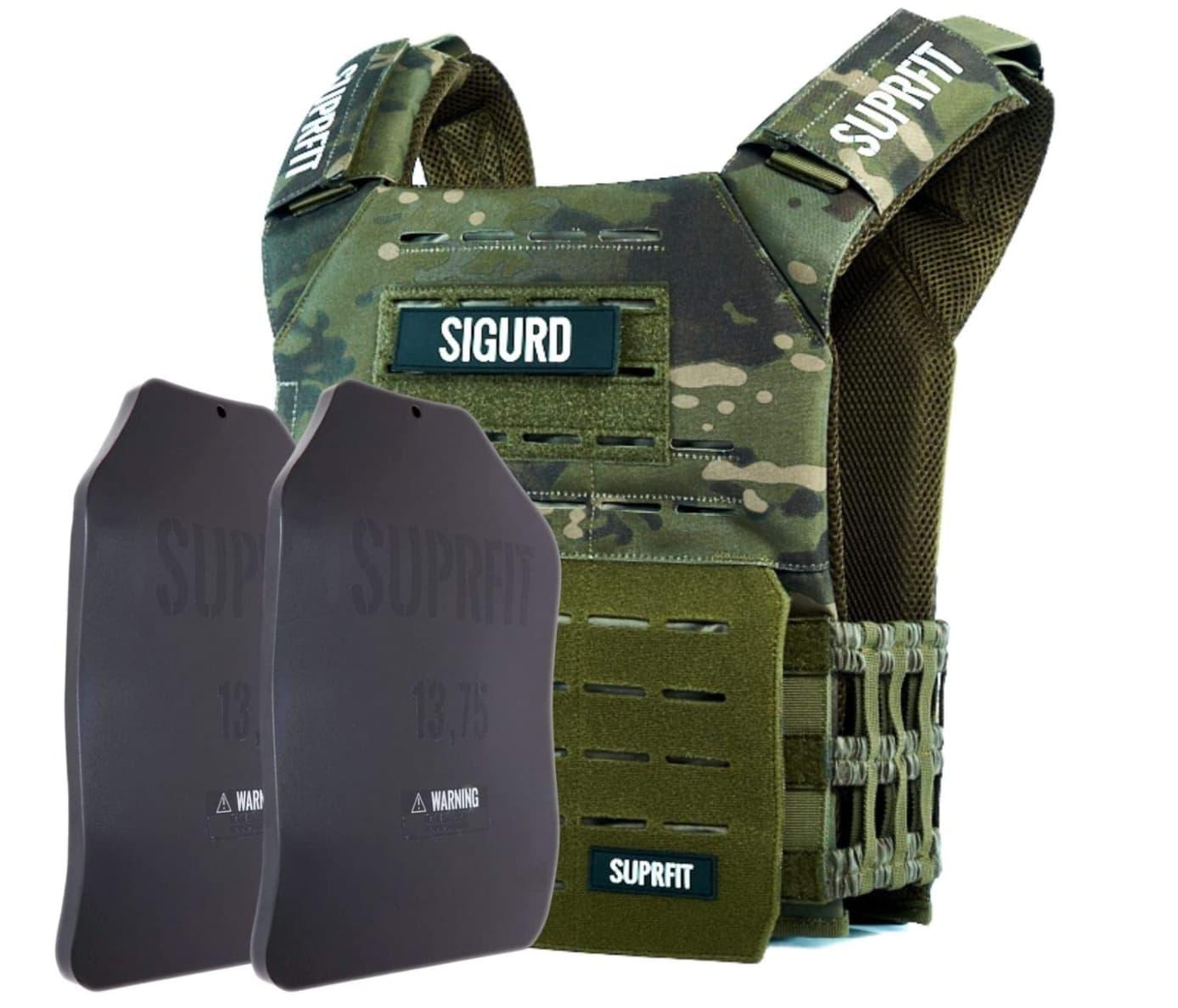 Sigurd-Trainingswesten gibt es auch in Military-Optik (ca. 180 Euro). Foto: Amazon.de