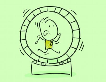 Manchmal schaut ein Hamsterrad von innen aus wie eine Karriereleiter