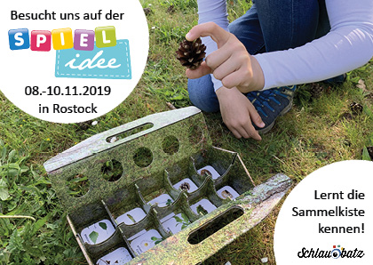 2019: schlaubatz ist auf der Spielmesse Rostock vertreten.