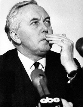 Roma, Marzo 1965 - Conferenza stampa di Wilson Harold