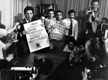 Roma, Giugno 1976 - Avanzata elettorale del Pci, Enrico Berlingur