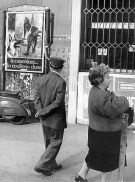 Napoli, Novembre 1990 - Pubblicità film hard