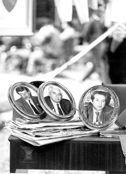 Roma, Maggio 1995 - Sergio Cofferati, Pietro Larizza, Sergio D'Antoni