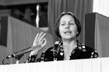 Roma, Marzo 1975 - Nilde Jotti al 14° congresso Pci