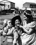 Roma, Maggio 1965 - Margareth lee, Franco Franchi e Moira Orfei, spaghetti western