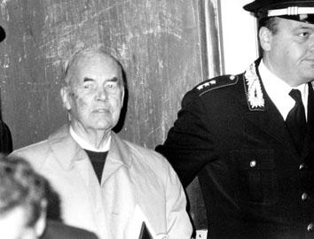 Roma, Maggio 1996 - Processo a Erich Priebke
